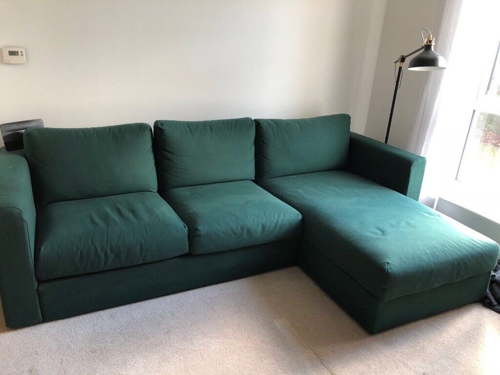 Admirable Ikea Vimle Corner Sofa In Dark Green In Addlestone Surrey Gumtree Spiritservingveterans Wood Chair Design Ideas Spiritservingveteransorg