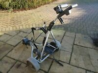 Powakaddy Electric Golf Trolley with power pack - silver -