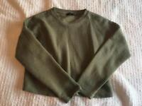 New Look size 10 ribbed green jumper.