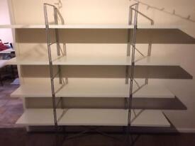 Large White Shelves
