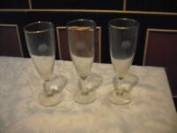 Set of 3 Wicked Lady flute glasses