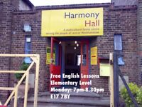 FREE ADULT ENGLISH CLASSES in Walthamstow, London E17 7BY