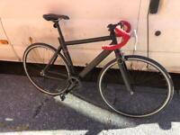 Aluminium lightweight fixed wheel road bike new tyres look pedals