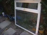 Double-glazed PVC Window - white. 15 years-old, but good condition.