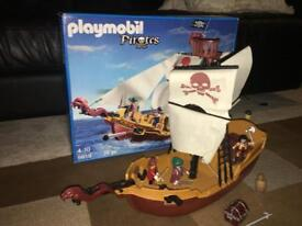 Playmobil Pirate ship with box and instructions