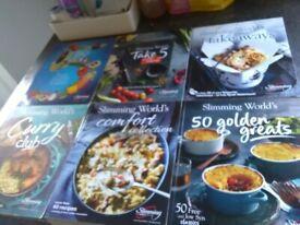 Slimming world recipe books x 6