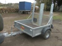 2010 BATESON GALVANISED 750KG UNBRAKED GOODS TRAILER WITH RAMPTAIL....
