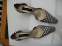 Jacqes Vert, Smoke Grey, Size 39 (5.5/6) Worn Once: Excellent Condition