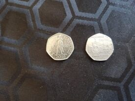 2 x rare 50p for sale . 1 x battle of hastings 1066 and 1 x vc ( Victoria cross )