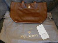 Genuine MULBERRY Bag, Tessie Tote, Soft Small Grain, Oak. Excellent condition