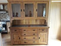 Solid Oak & Marble Handmade Dresser