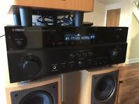 YAMAHA MATURAL SOUND AV RECEIVER RX-V767 WITH MISSION SPEAKERS AND SUB BETTER THAN SOUND BAR AMP