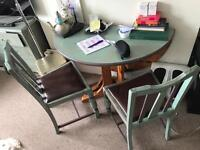 Shabby Chic table and 4 chairs.
