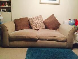 Cream / beige sofa for sale, comes with cushions