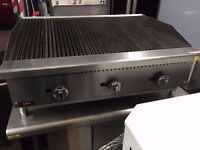 CATERING COMMERCIAL 3 BURNER GAS GRILL PERI PERI CHICKEN TAKE AWAY RESTAURANT CUISINE CAFE SHOP FOOD