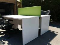 From £35 each as New Condition 1400 x 800 mm desks white 50 x available from £35 each