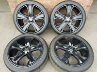 "20"" RANGE ROVER SPORT ALLOY WHEELS & TYRES REFURBISHED 5x120 VW T5"