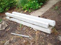 6 x 7.5 Ft multi hole concrete, garden fence posts.