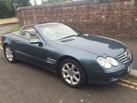 2004 MERCEDES-BENZ SL350 CONVERTIBLE, FULL LEATHER INTERIOR