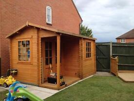 4m x 3m Log Summerhouse