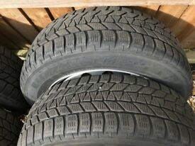 TYRES 195 X 60 X 16 TOP TOP QUALITY MATCHING BRIDGESTONE WINTER / ALL WEATHER TYRES,COST £783 FITTED