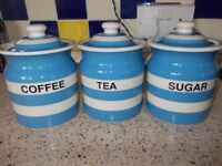 cornish blue storage jars.