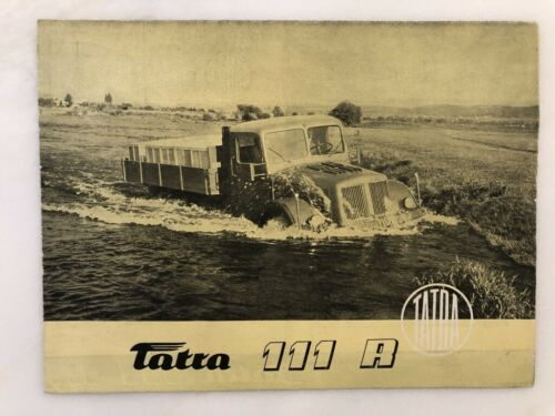 1950s TATRA 111 R S Dump TRUCK Sales ADVERTISING Brochure Czechoslovakia VINTAGE