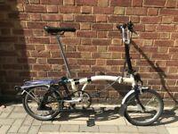 Brompton M3L Folding Bike Beige & Black