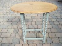Oak Oval Occasional Coffee Table With Painted Lower Frame