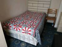 Double bed with storage draws and mattress