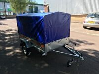 Temared 2010 car box trailer 750 kg with 80 cm high cover