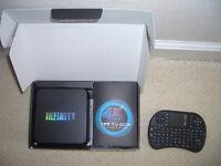Infinity TV Box and wireless keyboard