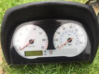 VX220 dash board dials speedometer and rev counter