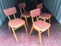 Retro vintage kitchen chairs possible delivery
