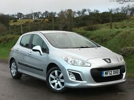 2012 PEUGEOT 308 1.6 HDI SR DIESEL 55421 MILES SAT NAV BLUETOOTH 5DR FULL SERVICE HISTORY IMMACULATE