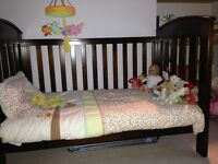 KING PARROT (Boori) Cot Bed with Mattress