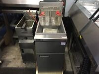 BRAND NEW COMMERCIAL TWIN BASKET CATERING GAS CHIPS FRYER MACHINE TAKEAWAY DINER CAFE SHOP KITCHEN