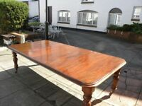 A mid Victorian Jamaican mahogany dining table.
