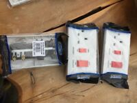 Electric Cooker Isolator Switch and Socket x3