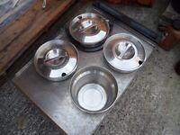 A Parry four-pot wet & dry Bain Marie -