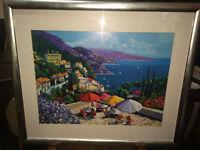 Beautiful Mediterranean Coastal Sea View High Quality Framed Art Print