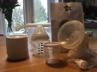 Tommee Tippee manual breast pump and accessories