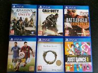 Bundle of PS4 Games. Excellent Condition!