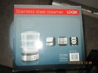 Stainless Steel Steamer by Logic One two or three tier
