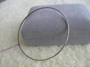VERY TINY OLD VINTAGE SILVERTONE 9-INCH BANGLE BRACELET [60s]