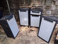 Storage boxes for garage or cellar