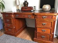 Two pieces of solid oak reproduction furniture, good condition.