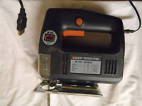 BLACK AND DECKER SC325 CORDLESS JIGSAW DRILL ''USED''