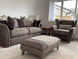 Sofa armchair & footstool