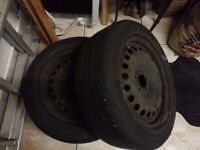 Ford Focus Mondeo C max spare steel wheel and tyre 205 55 16 inch not alloy